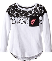 Nike Kids - Club Aop Long Sleeve Pocket Top (Little Kids)