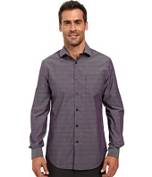 Perry Ellis - Regualar Fit Non Iron Irridescent Stripe Check Shirt