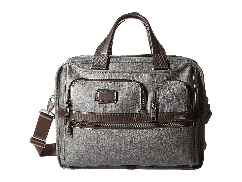 Tumi Alpha 2 Expandable Organizer Laptop Brief (Earl Grey) Computer Bags