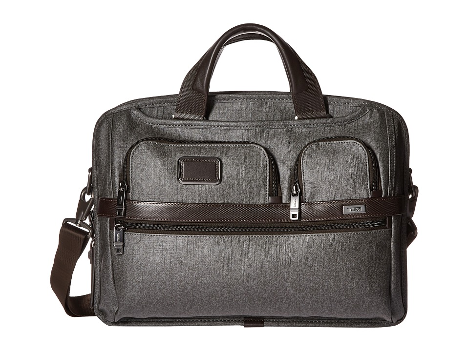 Tumi - Tumi T-Pass Medium Screen Laptop Slim Brief (Earl Grey) Computer Bags
