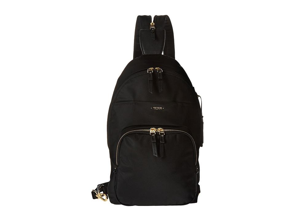 TUMI Voyageur Nadia Convertible Backpack/Sling (Black) Ba...