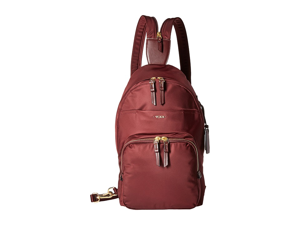 Tumi - Voyageur Nadia Convertible Backpack/Sling (Merlot) Backpack Bags
