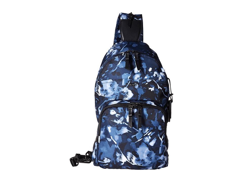 Tumi - Voyageur Nadia Convertible Backpack/Sling (Indigo Floral) Backpack Bags