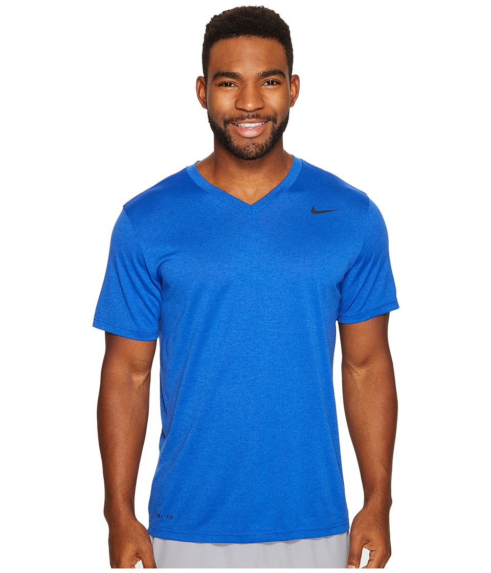Nike Legend 2.0 Short Sleeve V-Neck Tee (Game Royal/Black/Black) Men