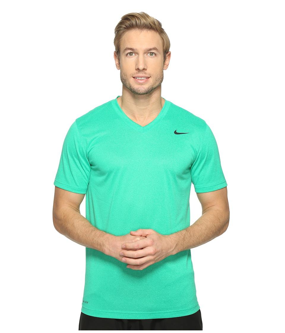 Nike Legend 2.0 Short Sleeve V-Neck Tee (Stadium Green/Black) Men