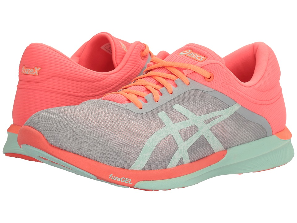 ASICS FuzeX Rush (Mid Grey/Bay/Flash Coral) Women