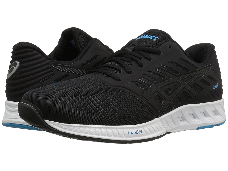ASICS - FuzeXtm (Black/Black/Indigo Blue) Mens Running Shoes