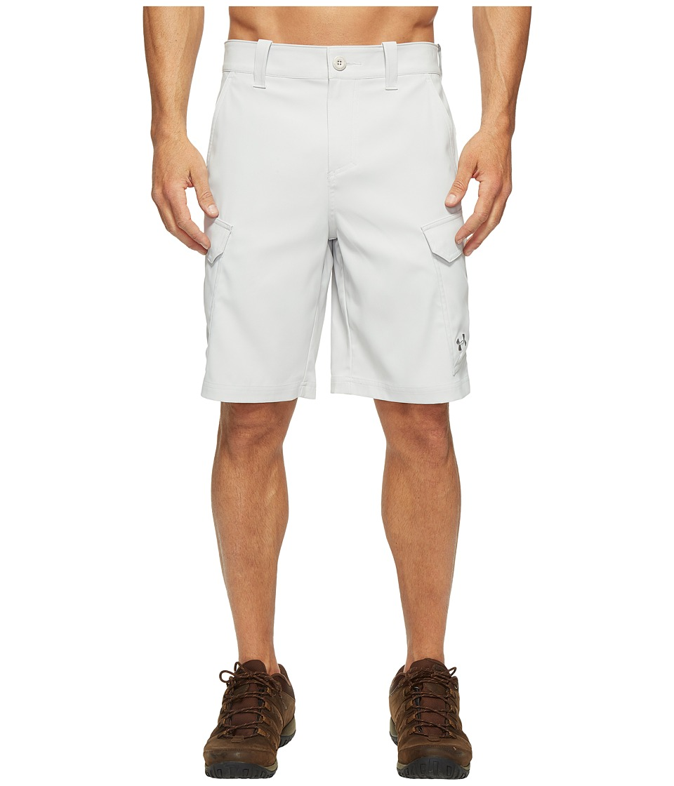 Under Armour - UA Fish Hunter Cargo Short (Glacier Gray/Steel) Mens Shorts