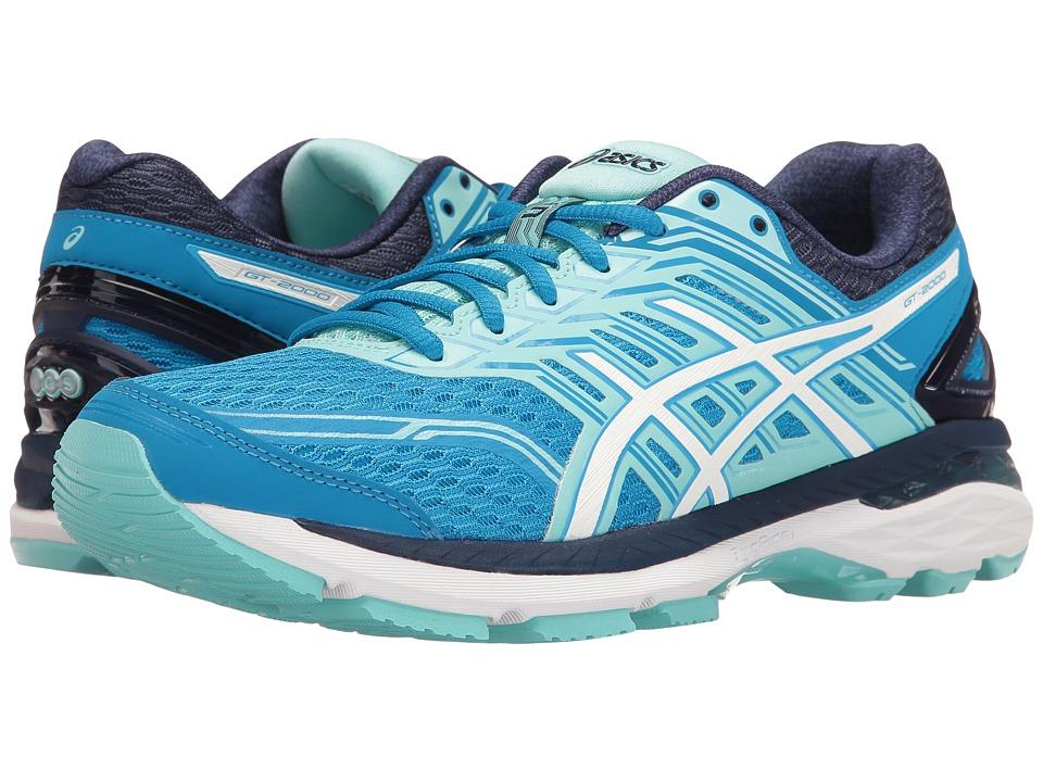 ASICS - GT-2000 5 (Diva Blue/White/Aqua Splash) Womens Running Shoes