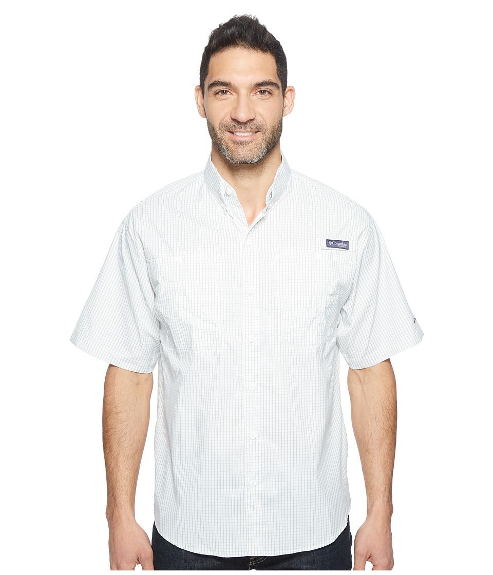 Columbia - Super Tamiamitm Short Sleeve Shirt (Safari Gingham) Mens Clothing