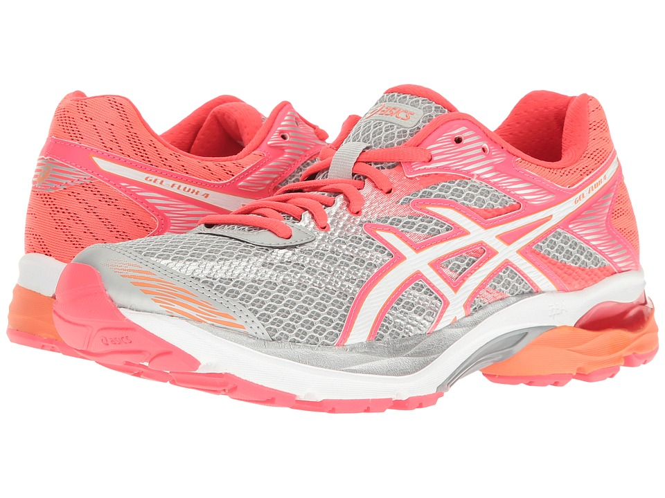 ASICS GEL-Flux 4 (Mid Grey/White/Diva Pink) Women