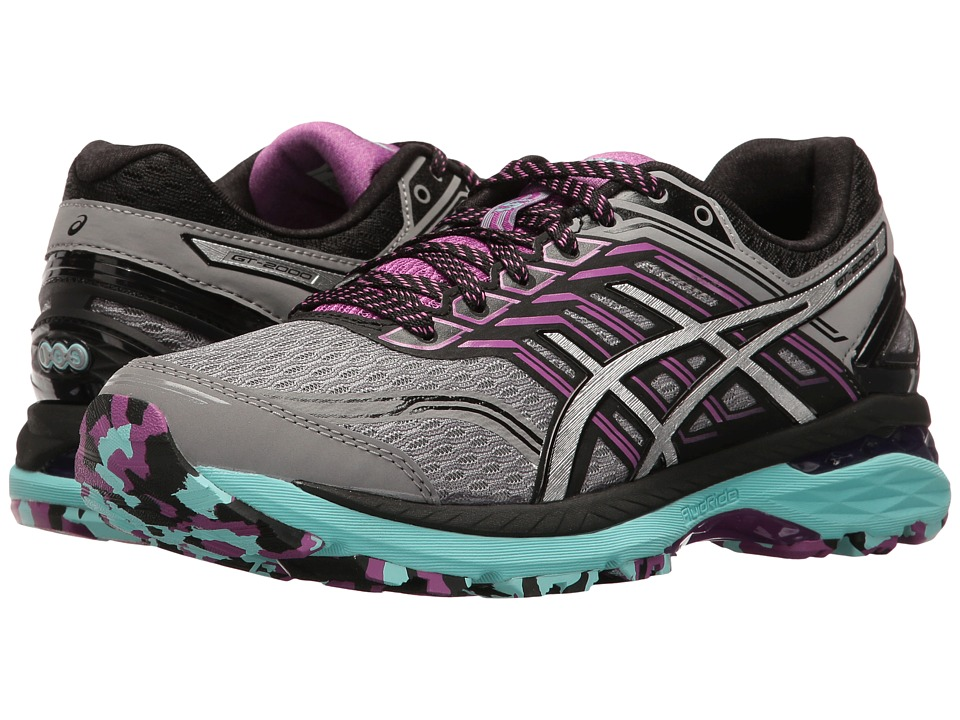 ASICS - GT-2000 5 Trail (Aluminum/Silver/Orchid) Womens Running Shoes