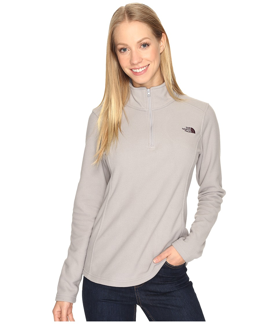 The North Face Glacier 1/4 Zip Fleece Top (Metallic Silver (Prior Season)) Women