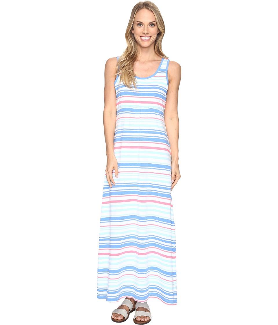 Columbia Reel Beautytm II Maxi Dress (Harbor Blue Variegated Stripe) Women