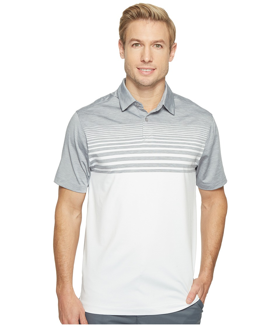 Under Armour Golf - UA CoolSwitch Upright Stripe Shirt (Steel/White/Graphite) Mens Clothing