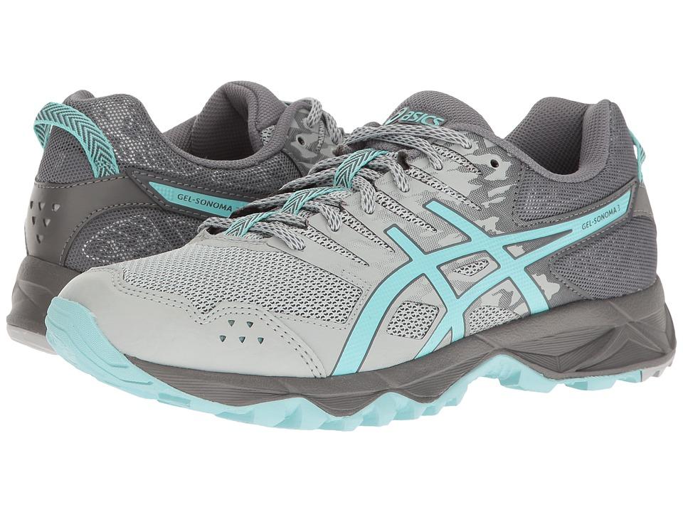 ASICS - GEL-Sonoma 3 (Mid Grey/Aqua Splash/Carbon) Womens Running Shoes