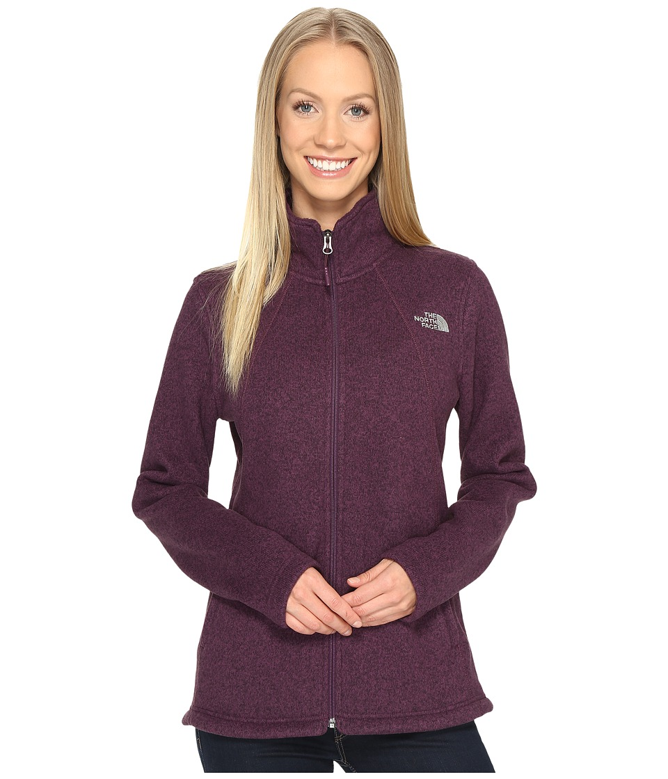 The North Face Crescent Full Zip (Blackberry Wine Heather) Women