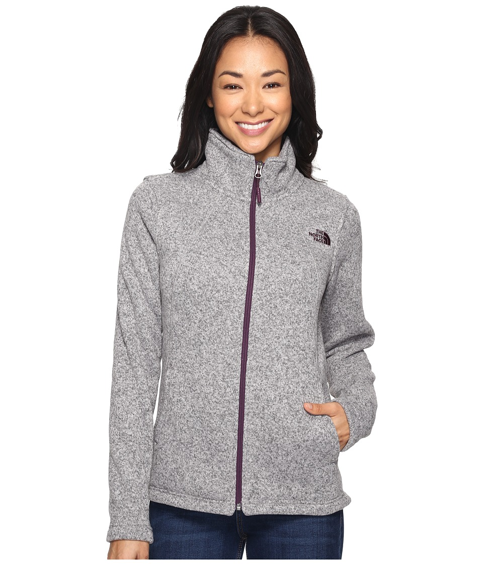 The North Face Crescent Full Zip (Metallic Silver Heather) Women