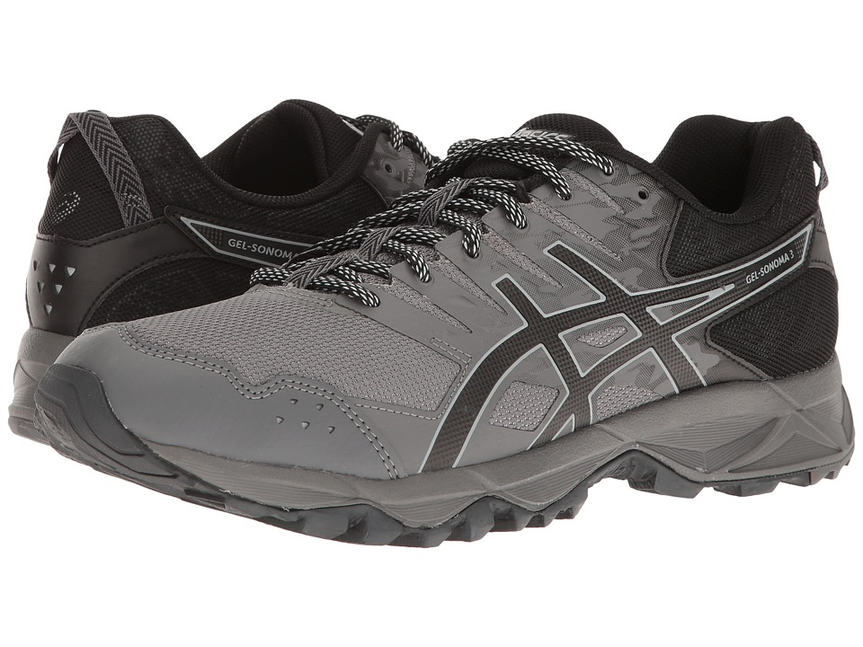 ASICS - GEL-Sonoma 3 (Carbon/Black/Mid Grey) Mens Running Shoes