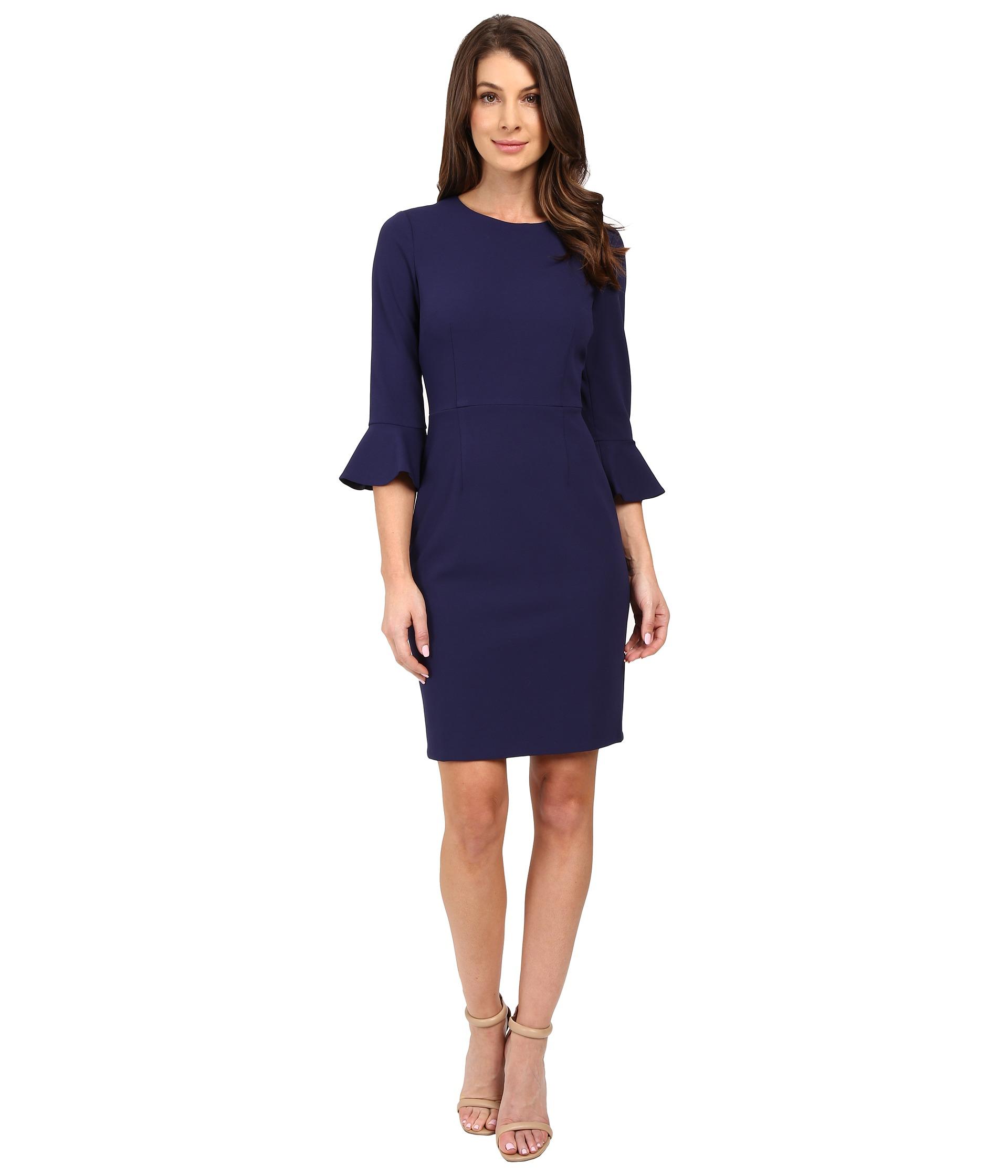 Donna Morgan 34 Bell Sleeve Sheath Dress Turban Zappos