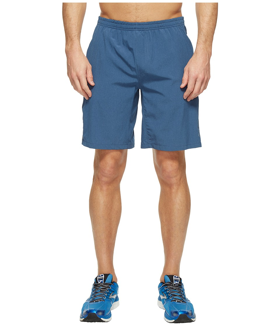Brooks Rush 9 Shorts (Heather Ink) Men