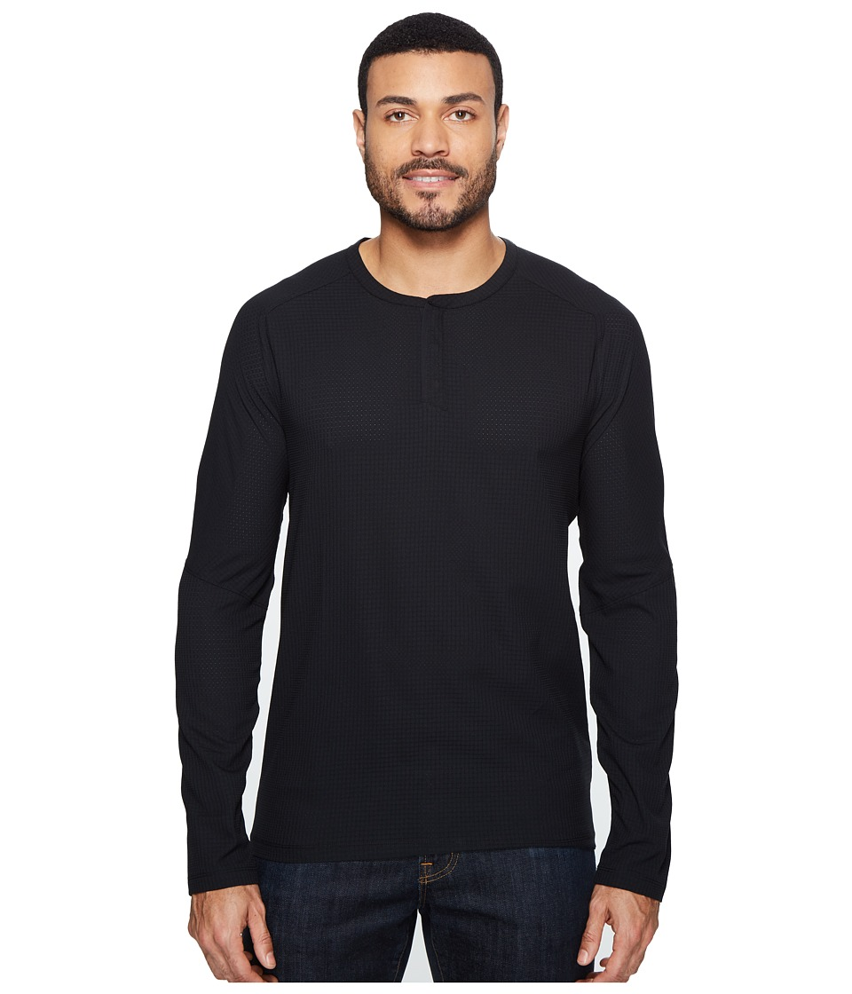 Mountain Hardwear MHW AC Long Sleeve Henley (Black) Men