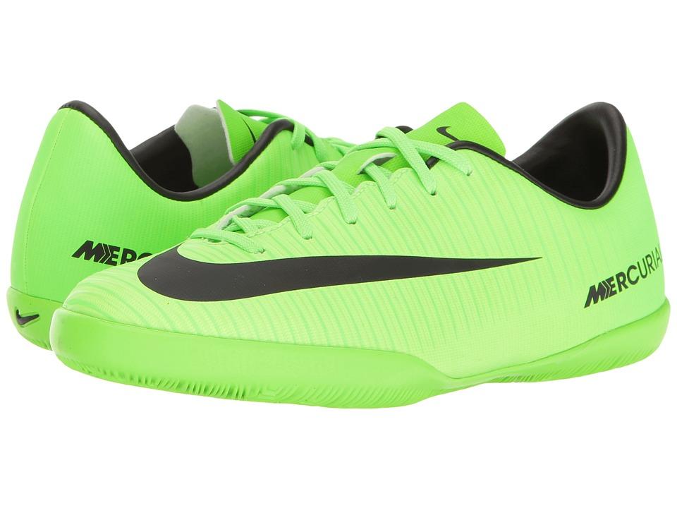 Nike Kids - JR Mercurial Vapor XI IC Soccer (Toddler/Little Kid/Big Kid) (Electric Green/Black/Flash Lime/White) Kids Shoes