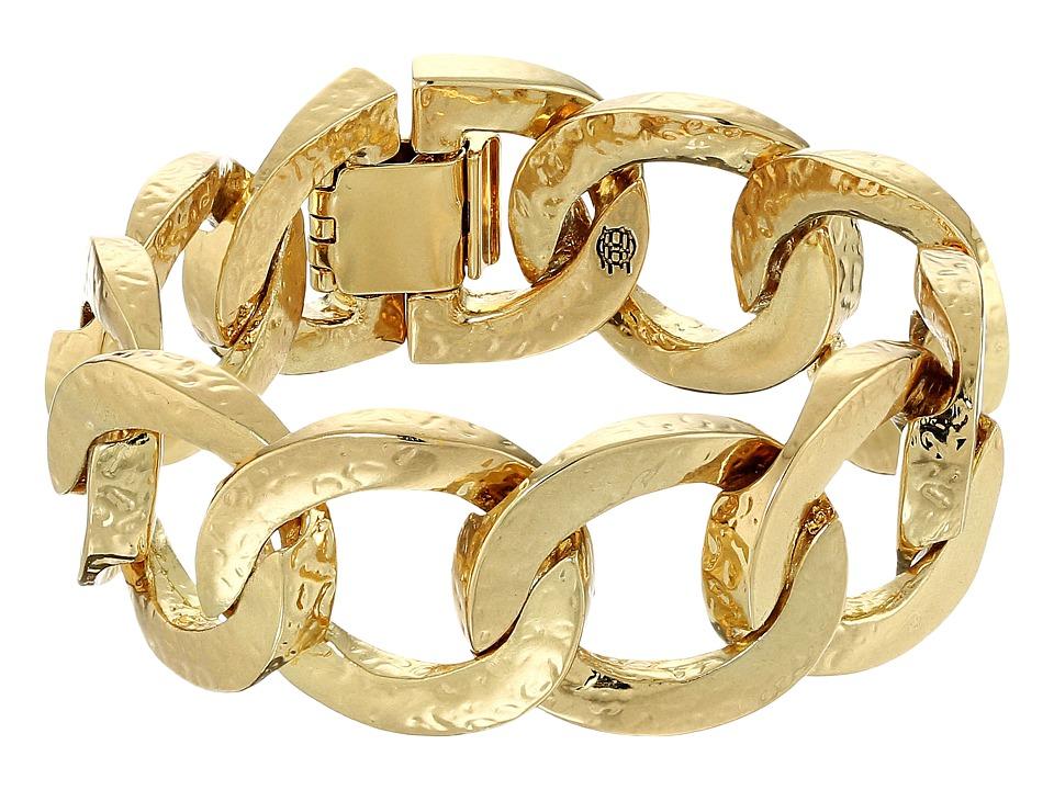 House of Harlow 1960 - The Ra Hammered Chain Bracelet (Gold) Bracelet