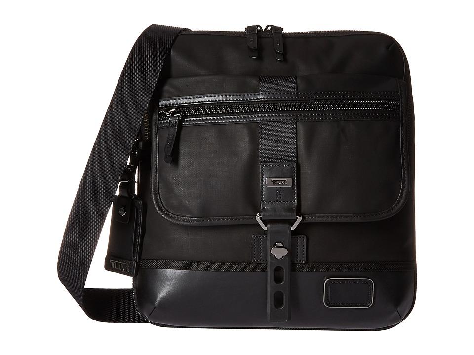 Tumi - Alpha Bravo - Annapolis Zip Flap (Black 1) Messenger Bags