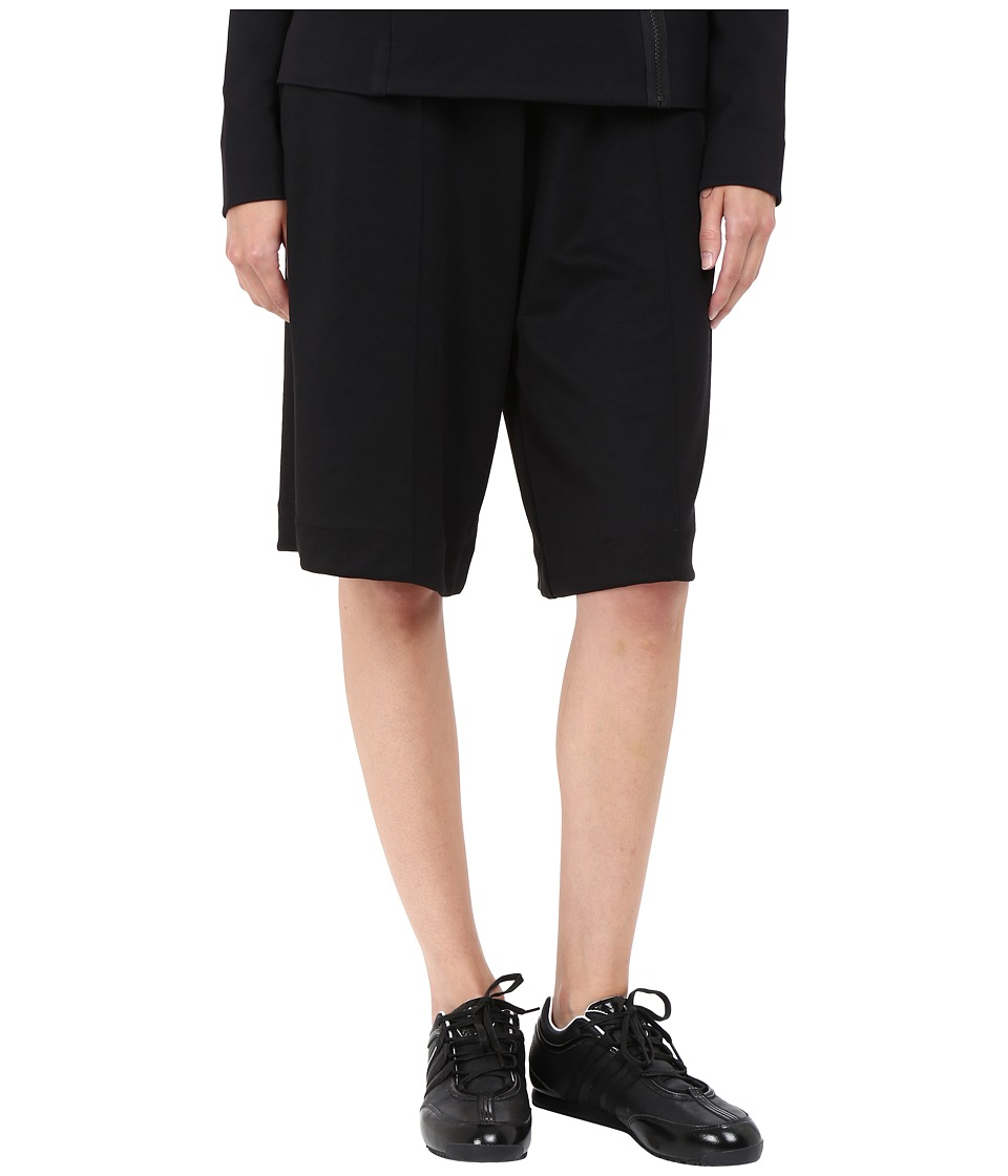 Image of adidas Y-3 by Yohji Yamamoto - 3 Stripes 3/4 Pants (Black) Women's Casual Pants