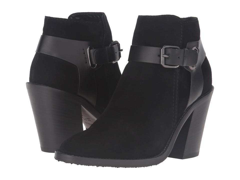 Aquatalia - Liana (Black Suede/Calf Combo) Women