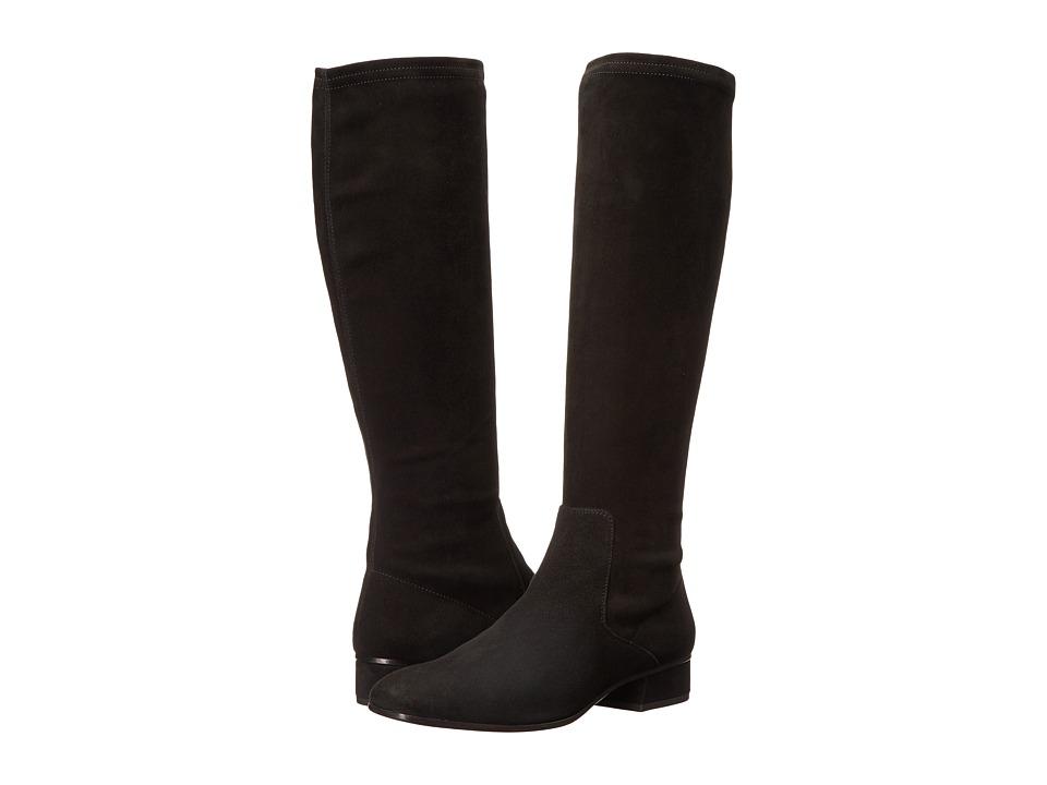 Aquatalia - Luisa (Black Stretch Suede) Womens Boots