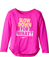 Nike Kids - Slow Down For What Dri-Fit Long Sleeve Tee (Toddler)