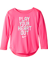 Nike Kids - Play Your Heart Out Long Sleeve Tee (Toddler)