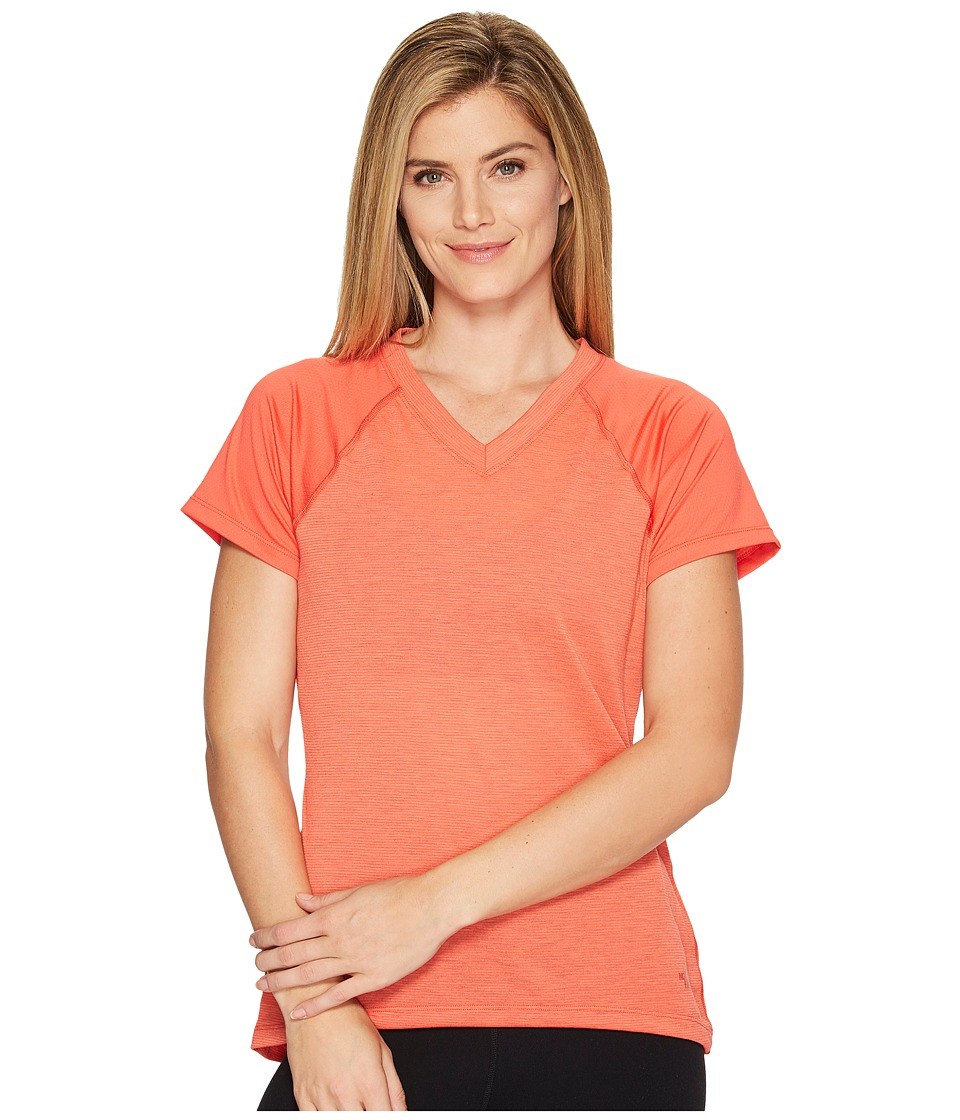 The North Face Reactor V-Neck Short Sleeve Shirt (Cayenne Red) Women
