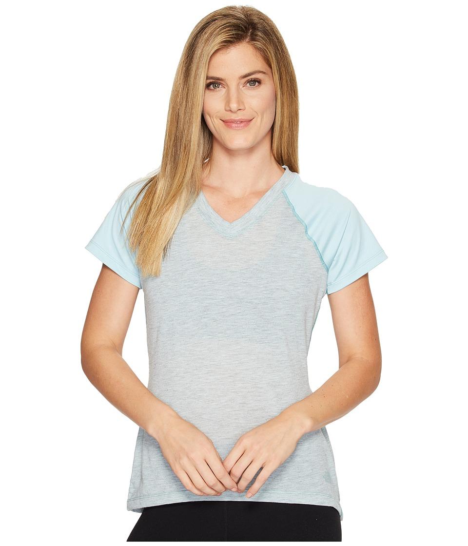 The North Face Reactor V-Neck Short Sleeve Shirt (Windmill Blue) Women