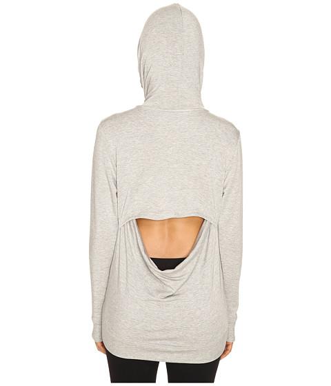 Beyond Yoga Cozy Fleece Cowl Back Hoodie - Heather Gray