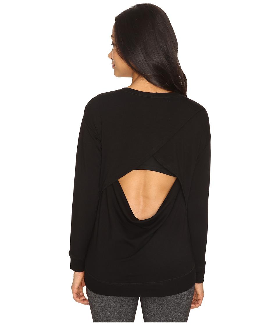 Image of Beyond Yoga - Cozy Fleece Breeze Pullover (Black) Women's Fleece