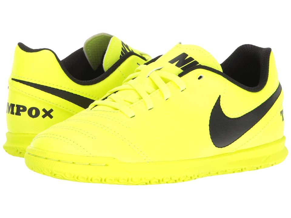 Nike Kids - Jr Tiempo Rio III IC Soccer (Little Kid/Big Kid) (Volt/Black/Volt) Kids Shoes