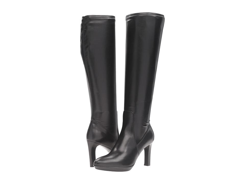 AquataliaRumbah  (Black Calf-Nappa Stretch) Womens Boots