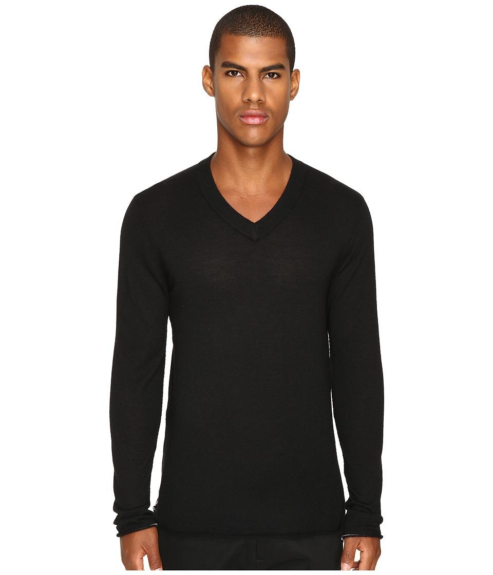 Image of ATM Anthony Thomas Melillo - Cashmere V-Neck Sweater (Black) Men's Sweater