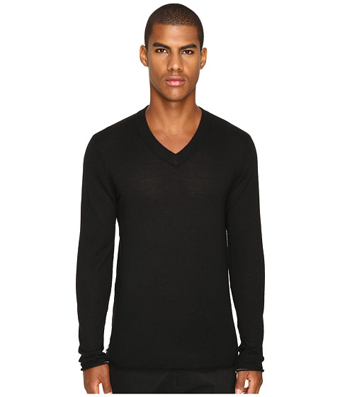 ATM Anthony Thomas Melillo Cashmere V-Neck Sweater - Black
