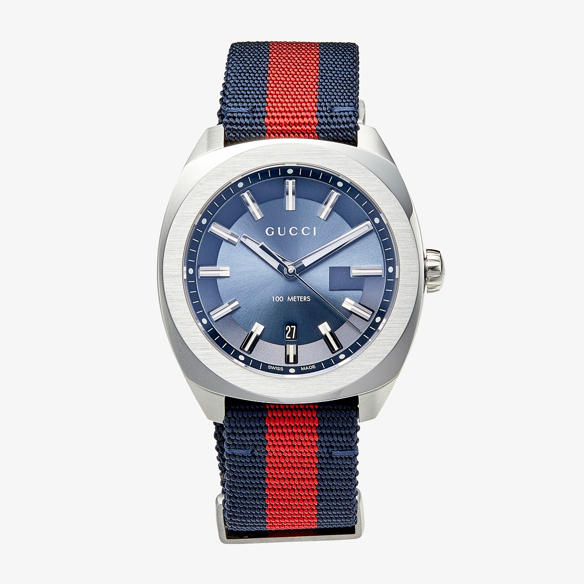 Gucci - GG2570 41mm - YA142304 (Blue/Red/Blue) Watches