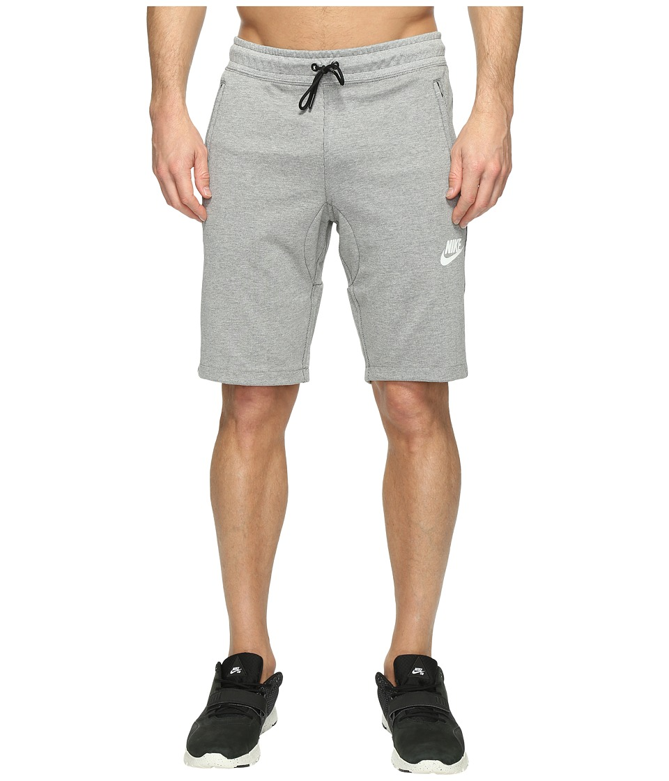 Nike NSW AV15 Fleece Shorts (Dark Grey Heather/Black/Black/White) Men