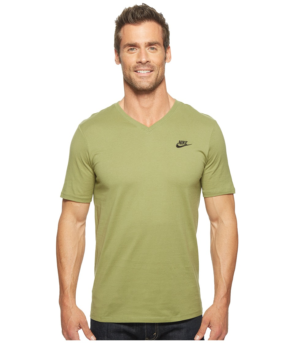 Nike Sportswear Futura V-Neck Tee (Palm Green/Palm Green/Black) Men