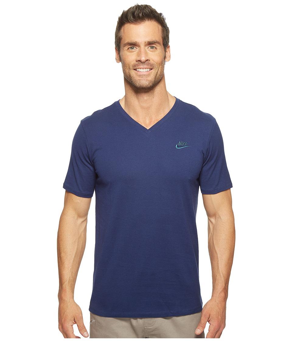 Nike Sportswear Futura V-Neck Tee (Binary Blue/Binary Blue/Squadron Blue) Men