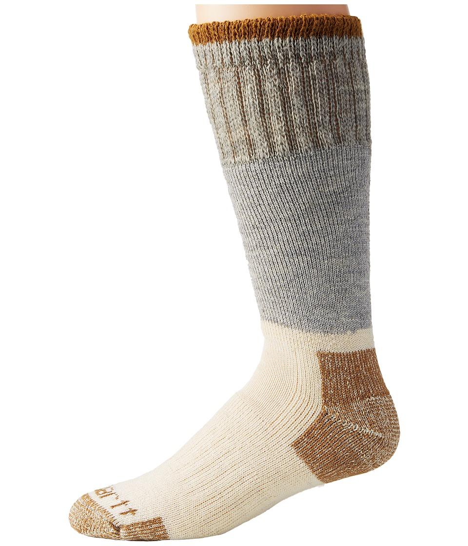 Carhartt Artic Wool Boot Crew Socks 1-Pair Pack (Gray) Men