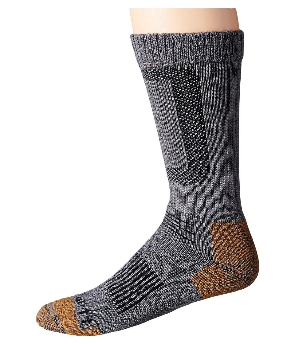 Carhartt - Merino Wool Comfort Stretch Steel Toe Socks 1-Pair Pack (Heather Gray) Mens Crew Cut Socks Shoes