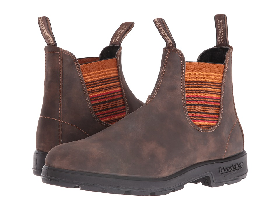 Blundstone 1348 (Rustic Brown/Stripes) Boots