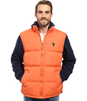U.S. POLO ASSN. - Basic Vest with Fleece Hood and Sleeves